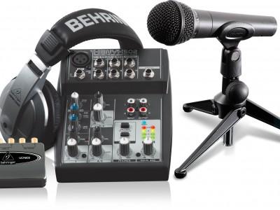 Behringer Podcastudio: готовые решения для записи звука