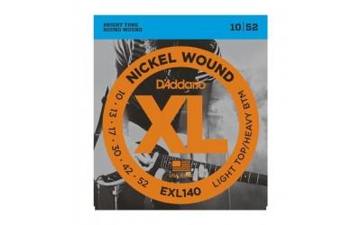Струни D`Addario EXL140 XL NICKEL WOUND LIGHT TOP/HEAVY BOTTOM (10-52)
