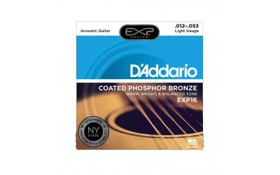 Струни D'Addario EXP16 EXP COATED PHOSPHOR BRONZE REGULAR LIGHT (12-53)