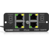 Многоканальная плата расширения аудиоинтерфейса Klark Teknik DM80-DANTE