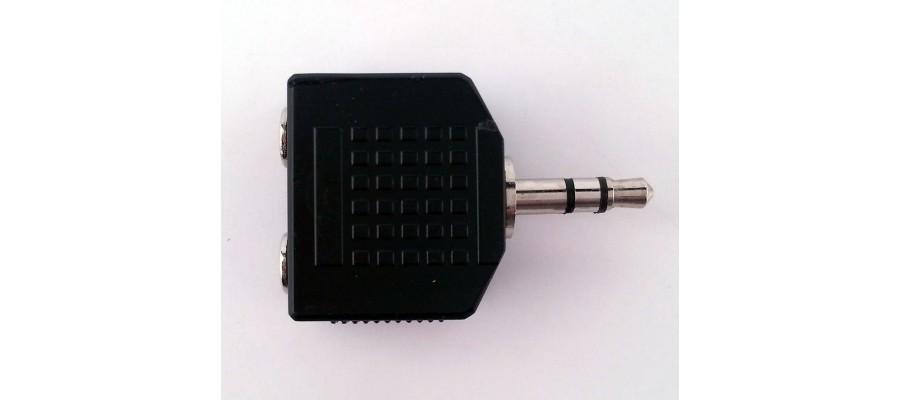 Переходник PROEL AT140 - два 3,5 мм стерео-джек мама в один 3,5 мм стерео-джек папа