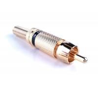 PROEL MRCA 30BK - коннектор штыревой, RCA папа c черной полосой, позолоченная латунь