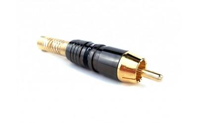 PROEL MRCA48BK - штекер штыревой (RCA папа), с черной полосой, профессиональный