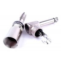 PROEL S240 - штекер 6.3 мм моно джек, профессиональный, угловой, никелированный